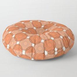 Red & Orange Circles Floor Pillow