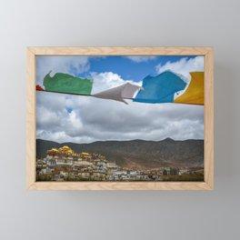 Prayer Flags at Ganden Sumtseling Monastery Framed Mini Art Print