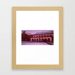 HOUSEPLANTPINKYELLOWPURPLESKY Framed Art Print