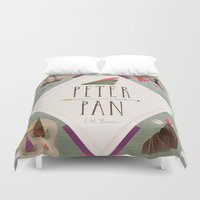 peter pan Duvet Covers featuring Peter Pan by emilydove
