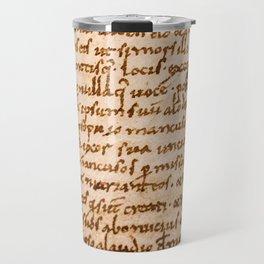 Handwritten script Travel Mug