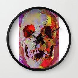 Skull Neck Gator Colorful Skull Wall Clock