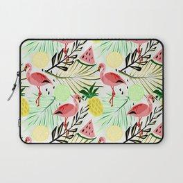 Pink flamingos and fruit. Laptop Sleeve