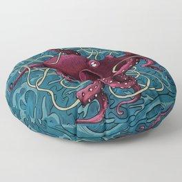 Octopus colored Floor Pillow