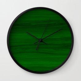 Green Wood Wall Clock