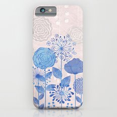 Light Blue Flowers Slim Case iPhone 6s