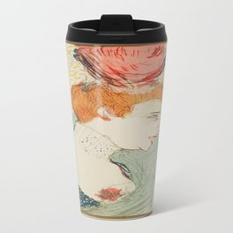 Vintage poster - Woman Travel Mug