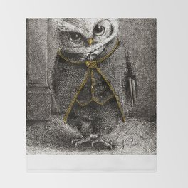 Unlike Father Like Owl Throw Blanket