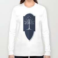 gondor Long Sleeve T-shirts featuring Shield of Gondor by DWatson