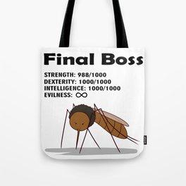 Final Boss - Black Letters Tote Bag