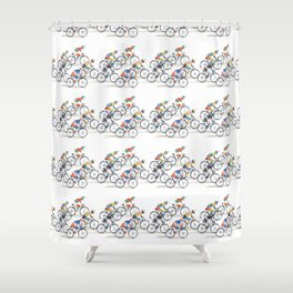 Ride to Win Shower Curtain