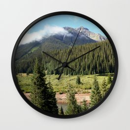 Mineral Creek - Heart of the 1880's Silver and Gold Rush in the San Juans Wall Clock
