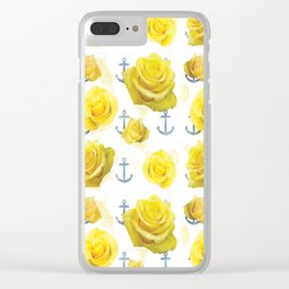 Anchors and Roses Clear iPhone Case