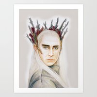 thranduil Art Prints featuring Thranduil by Olivia Nicholls-Bates