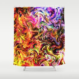 Firey abstract Shower Curtain