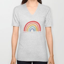 Colossians 3:12 Put on Compassion Kindness Bible Verse Art For Kids And Christian Mom Boho Rainbow  Unisex V-Neck