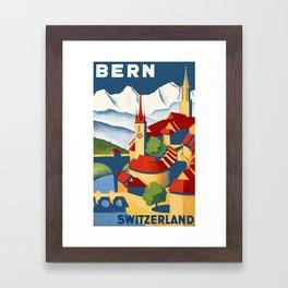 Vintage Bern Switzerland Travel Framed Art Print
