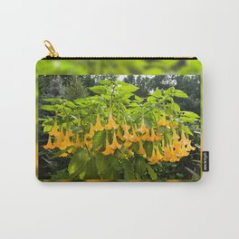 Yellow Brugmansia or Angels Trumpets Carry-All Pouch