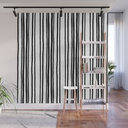 Lines and Curves Black/White Palette Wall Mural