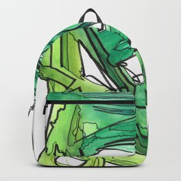 Nature's Lever Modern Watercolor Painting Backpack