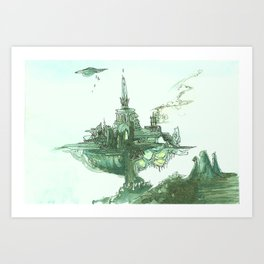 Over there Art Print