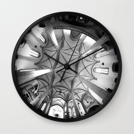 St. Mary's Church St. Mary's parish church in Torgau BW 2 Wall Clock
