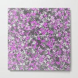 Pink gray bitch camo Metal Print