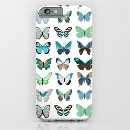 Green and Blue Butterflies iPhone Case