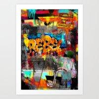 rebel Art Prints featuring Rebel. by Grant Pearce