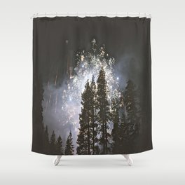 Fireworks In the night sky Shower Curtain