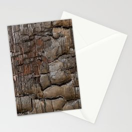 Charred Wood Texture Stationery Cards