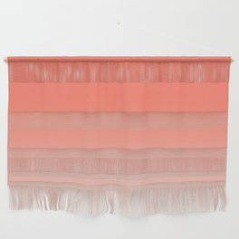 Coral Ombre, Dip Dye, Boho Wall Hanging