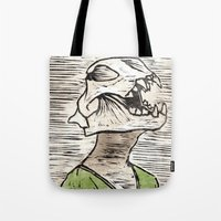 leon Tote Bags featuring Leon by Amber Kahler