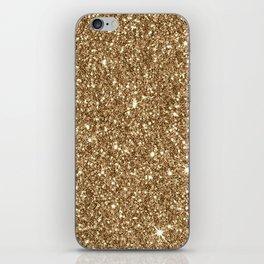 Sparkling Glitter Print H iPhone Skin