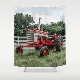 International Harvester Farmall 240 Red Tractor McCormick Deering Shower Curtain