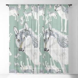 Totem Alberta Wolf Sheer Curtain