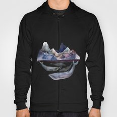 mountain and whales Hoody