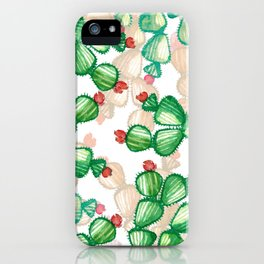 cactus with a red flowers iPhone Case