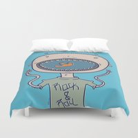 rock and roll Duvet Covers featuring Rock & Roll by Molly Yllom Shop