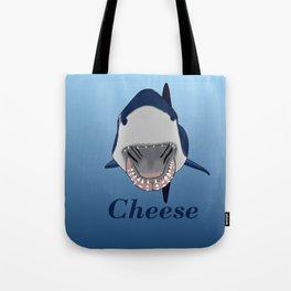 Shark Selfie Say Cheese Tote Bag