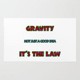 """Funny """"Gravity -The Law"""" Joke Rug"""