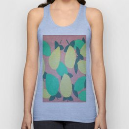 Lemony Fresh Citrus Pattern Unisex Tank Top