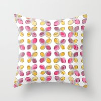 flower pattern Throw Pillows featuring flower pattern by VessDSign