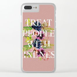 Treat People With Kindness graphic artwork / Harry Styles Clear iPhone Case