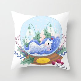 Miss Hiver Throw Pillow