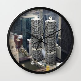 Marina Towers Chicago Illinois Color Photo Wall Clock