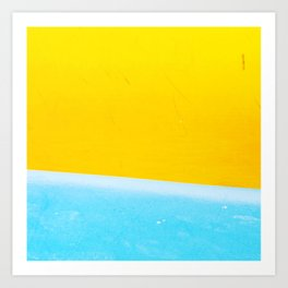 Sea & Sand Watercolor painting Abstract Art Print