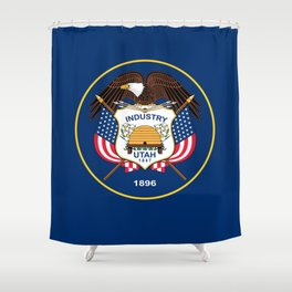 Utah State Flag - Authentic Version Shower Curtain