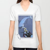 scuba V-neck T-shirts featuring Scuba diver by Aquamarine Studio