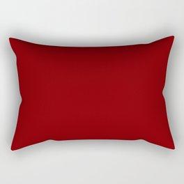 Darker Red Rectangular Pillow